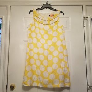Jessica Howard 12 short dress polka dot yellow wht